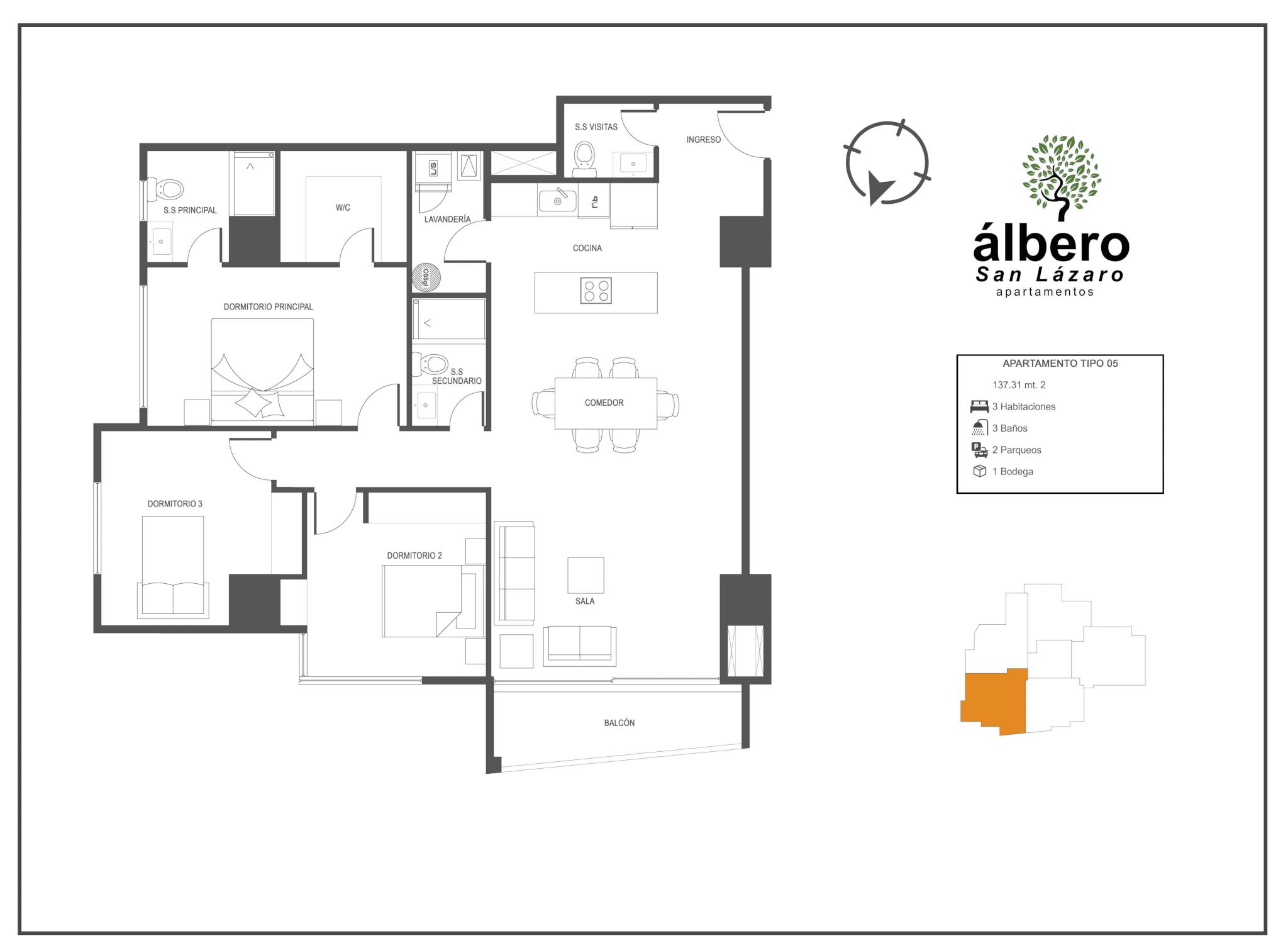 apartamento tipo 5