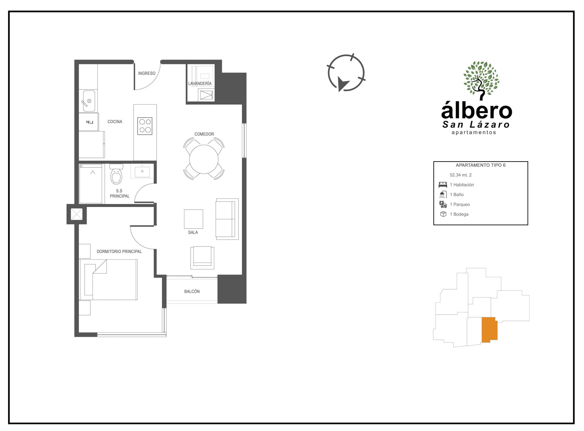 apartamento tipo 6